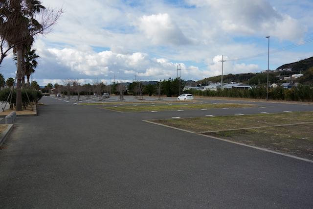 佐野運動公園の駐車場