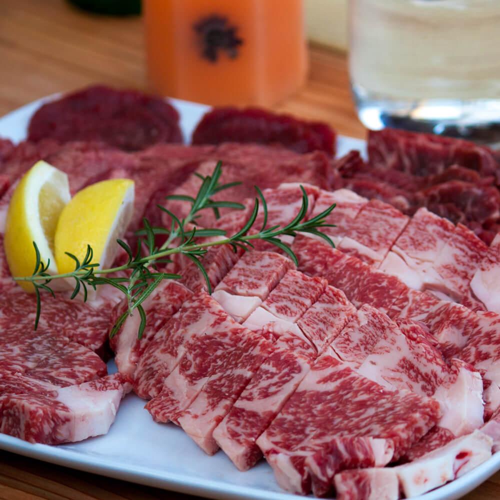 淡路島産牛肉のバーベキュー