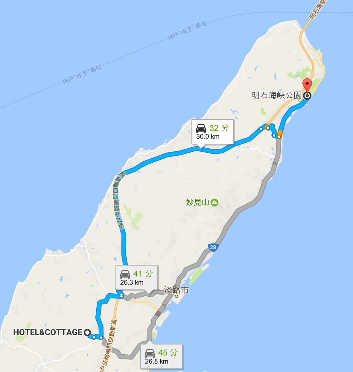 淡路島ロングライド150地図