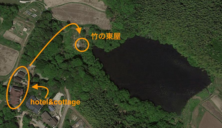 淡路島マンモスの竹の東屋