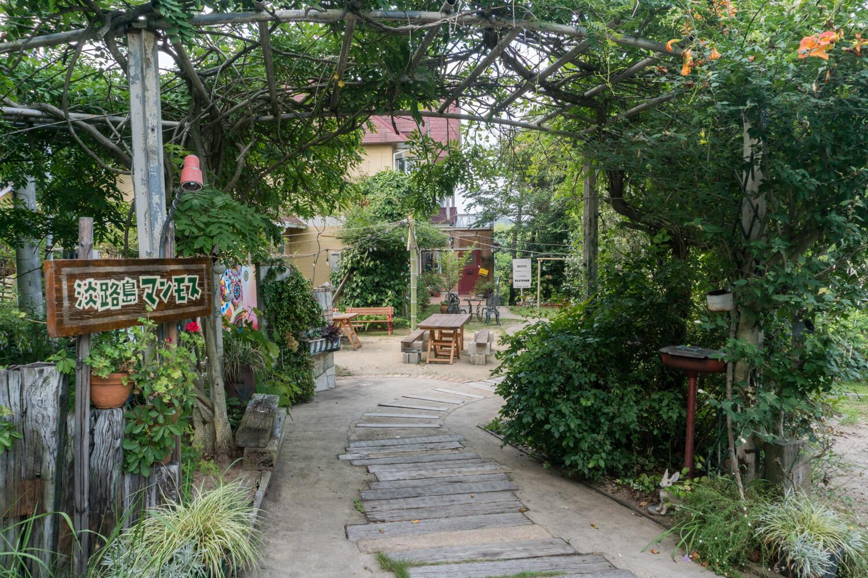 淡路島で一番安いオートキャンプサイトがある建物