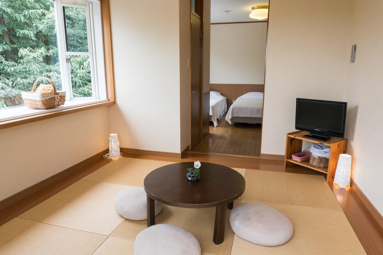 淡路島で一棟貸しできる宿泊施設の個室