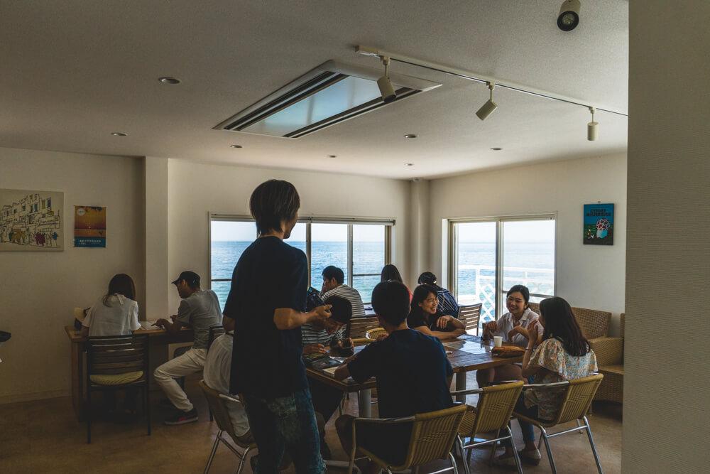 淡路島のグルメスポットミエレの2階