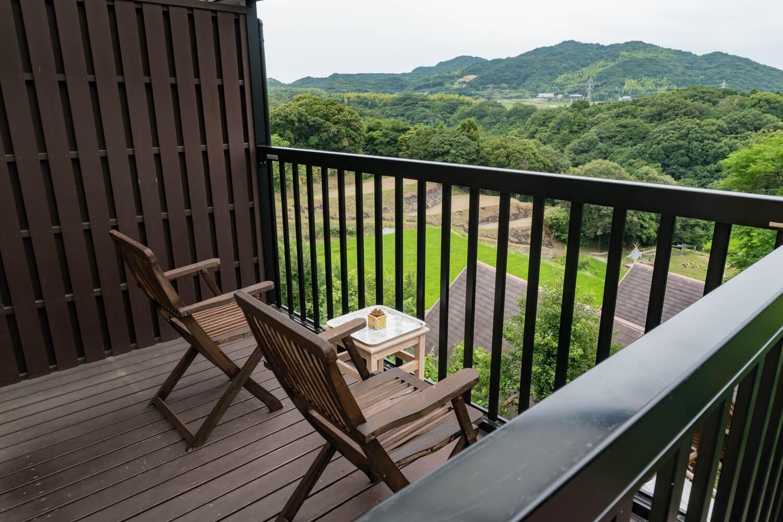 淡路島の貸別荘ホテルのテラス