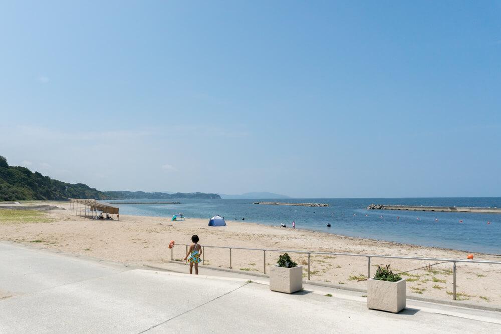 新都志海水浴場は無料でバーベキューができる淡路島の海水浴場