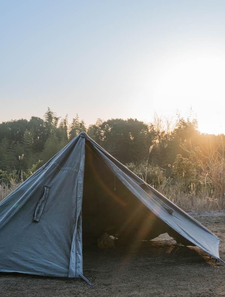 淡路島マンモスで野営キャンプ