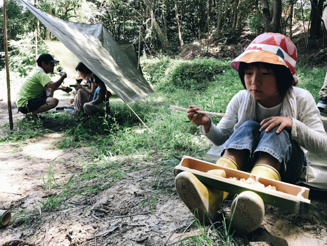 竹飯ごうとポトフのご飯