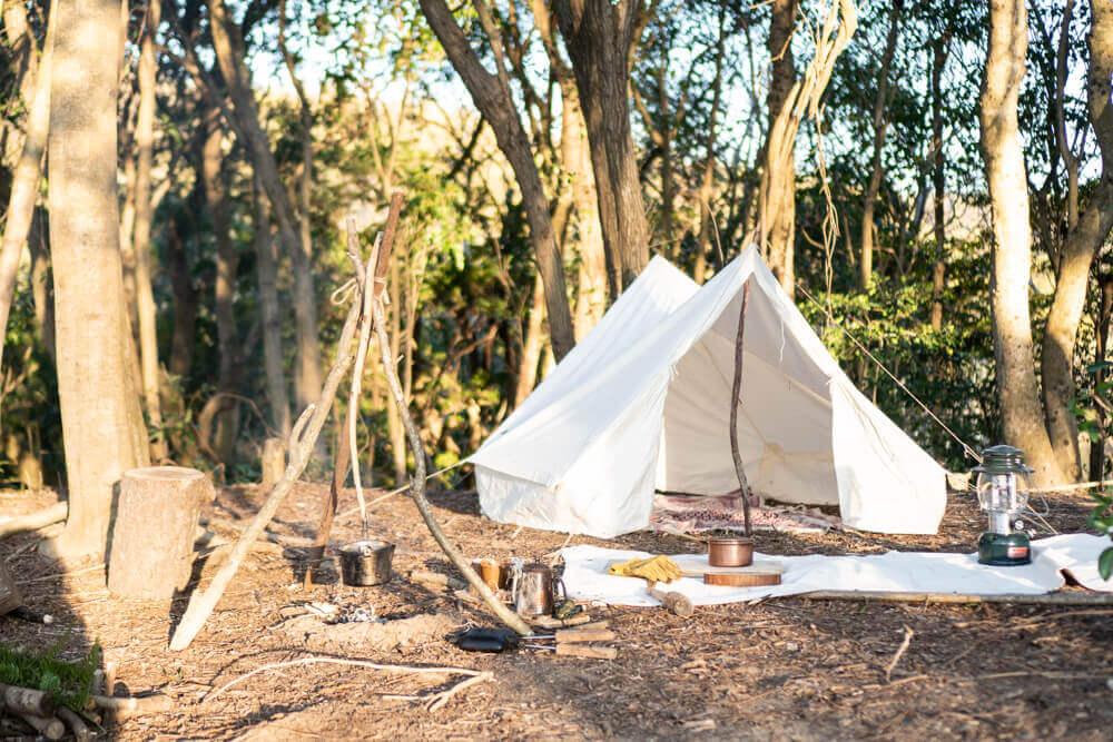 森のキャンプサイト