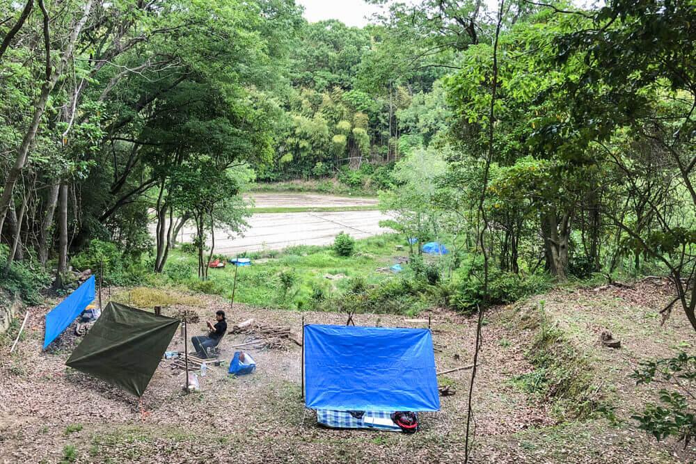 丘のキャンプサイト